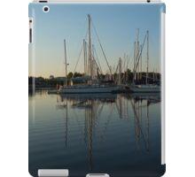 Reflecting on Yachts - Hot Summer Afternoon Mirror iPad Case/Skin