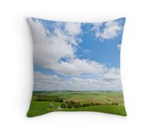 Wheatfield in the Palouse Throw Pillow