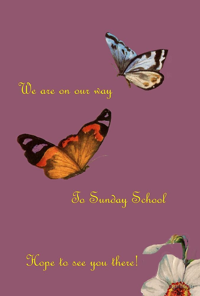 We Are On Our Way to Sunday School by aprilann
