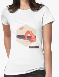 Arches National Park Travel Art Womens Fitted T-Shirt