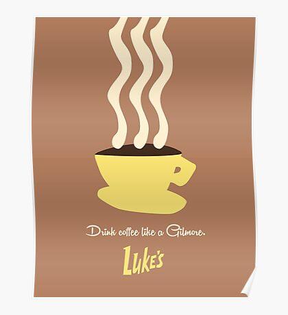 Luke's Diner, Gilmore Girls Poster
