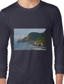 Heceta Head Overlooking the Pacific Ocean Long Sleeve T-Shirt