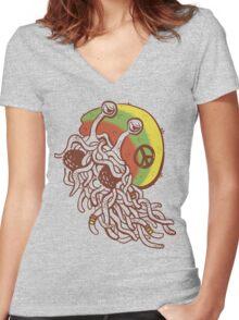 Rastafarian Pastafarian Women's Fitted V-Neck T-Shirt