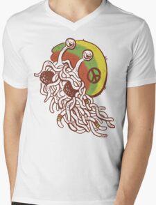 Rastafarian Pastafarian Mens V-Neck T-Shirt