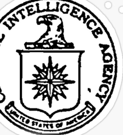 CIA STAMP / SEAL | BLACK AND WHITE Sticker