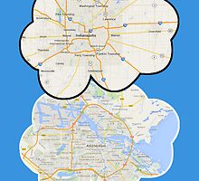 The Fault In Our Stars Maps by BrightSpot