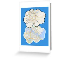 The Fault In Our Stars Maps Greeting Card