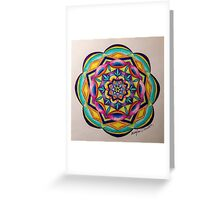 Colorful Mandala Pencil Drawing Greeting Card