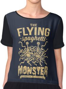 The Flying Spaghetti Monster (dark) Chiffon Top