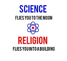 Science Vs. Religion Photographic Print