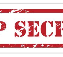 TOP SECRET STICKER Sticker