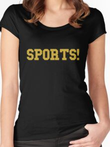 Sports - version 3 - gold Women's Fitted Scoop T-Shirt