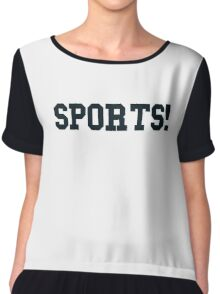 Sports - version 4 - navy / dark blue Chiffon Top