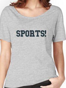 Sports - version 4 - navy / dark blue Women's Relaxed Fit T-Shirt