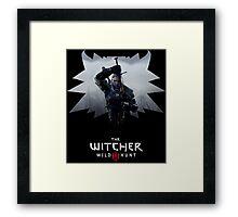 Witcher 3 - Medallion w/ Logo - One Sword Framed Print