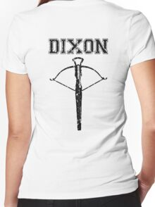 Daryl Dixon Crossbow (black) Women's Fitted V-Neck T-Shirt