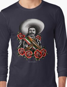 Emiliano Zapata Portrait Long Sleeve T-Shirt