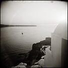{ Sinking Sun Santorini } by Lucia Fischer
