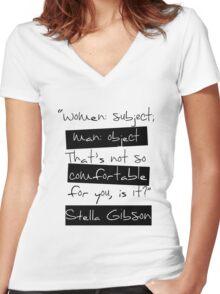 Women: Subject Women's Fitted V-Neck T-Shirt