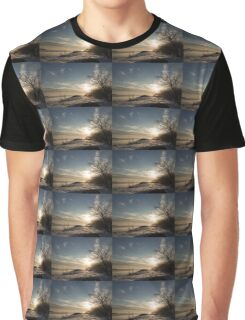 Frosty Grasses, Shrubs and Rocks on the Shore of Lake Ontario in Toronto Graphic T-Shirt