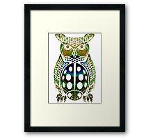 Owl, Peacock, Ladybug Mashup Framed Print