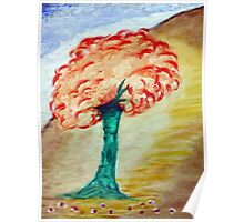 Tree - Acrylic Painting on Canvass Poster