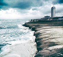 Storm at the dutch coast by ictor