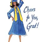 """""""Cheers to You!"""" Graduation Card by Veronica Miller Jamison"""