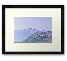 Lavender Hue, New Zealand Landscape Framed Print