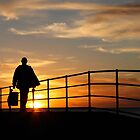Fisherman on Jetty  by BenClarkImagery