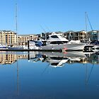 Glenelg Marina Reflections  by BenClarkImagery