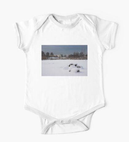 Fluffy Snowdrifts and Ominous, Threatening Skies  One Piece - Short Sleeve