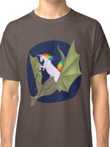 Unicorn Riding a Space Dragon Classic T-Shirt