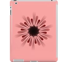 A black red 10 pointed shape iPad Case/Skin