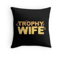 trophy wife in gold foil (image) Throw Pillow