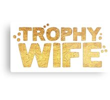 trophy wife in gold foil (image) Metal Print