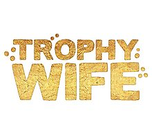 trophy wife in gold foil (image) Photographic Print