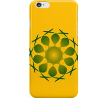 A green 5 pointed shape iPhone Case/Skin
