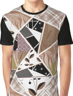 Patchwork seamless pattern checkered ornament retro design background Graphic T-Shirt