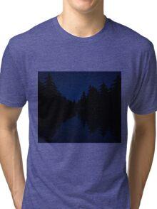 Night Time River Tri-blend T-Shirt