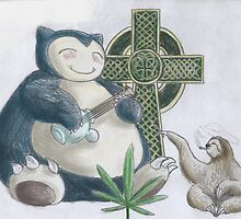 Stoned Snorlax and Sloth by jbruno2
