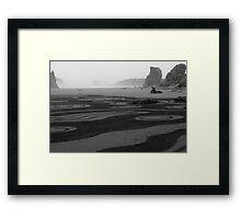 Man on a rock  Framed Print