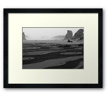 Man on a rock  Framed Print