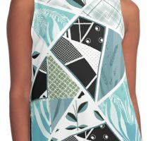Patchwork seamless pattern checkered ornament retro design background Contrast Tank