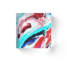 Ultra Modern marble abstract painting  Acrylic Block