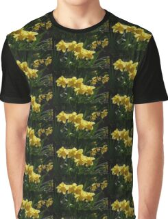Sunny, Windy Spring Garden with Daffodils Graphic T-Shirt