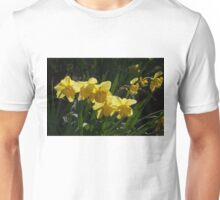 Sunny, Windy Spring Garden with Daffodils Unisex T-Shirt