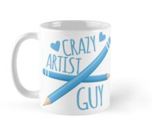 Crazy Artist Guy with blue pencils Mug