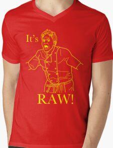 It's RAW! Mens V-Neck T-Shirt