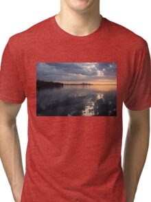 Early Morning Reflections - Lake Ontario and Downtown Toronto Skyline  Tri-blend T-Shirt